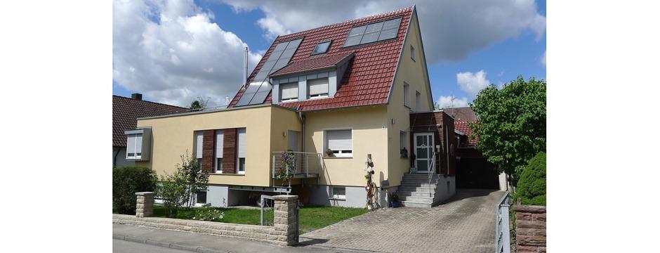 erweiterung anbau sanierung zum kfw effizienhaus im bestand g rtringen ae architekturb ro. Black Bedroom Furniture Sets. Home Design Ideas